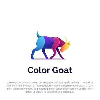 Kolorowe kozie logo, szablon
