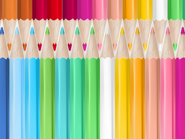 Kolorowe kredki tło.