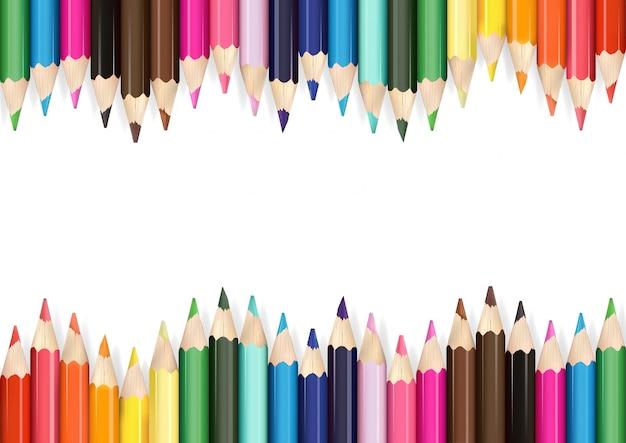 Kolorowe kredki tło
