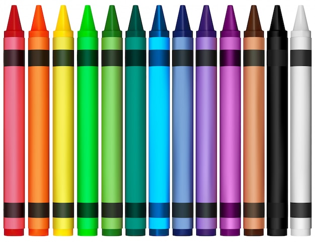Kolorowe kredki woskowe