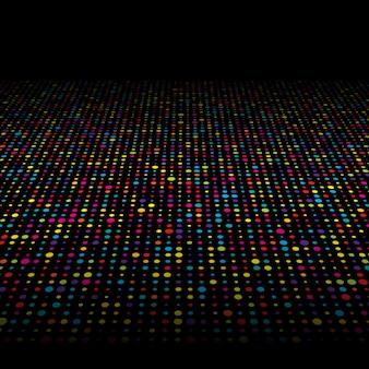 Kolorowe kropki tła techno