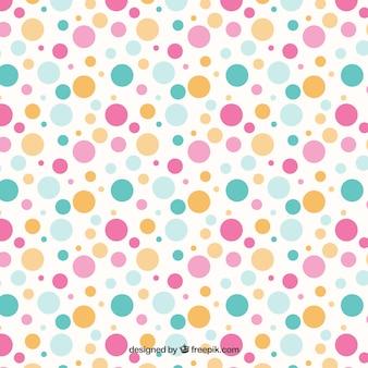 Kolorowe kropki wzór