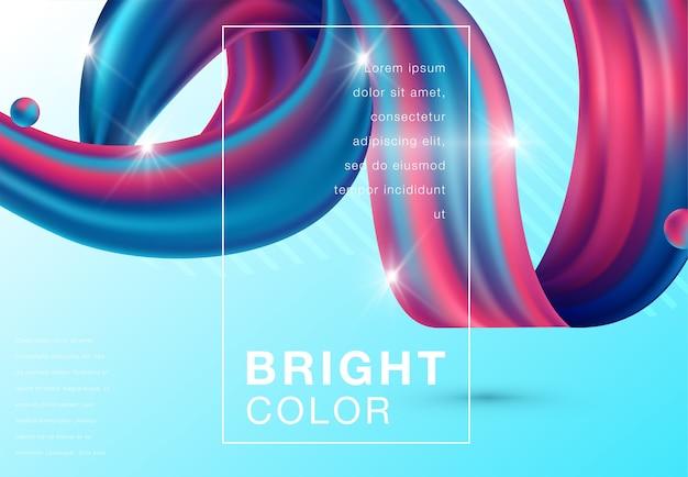 Kolorowe kształty 3d przepływu. fala płynne nowoczesne tło