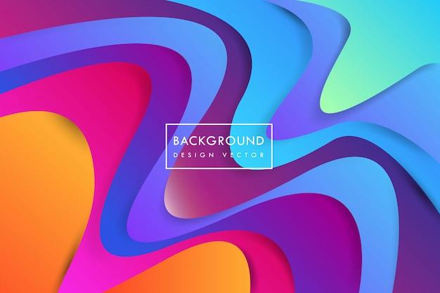 Kolorowe kształty abstrakcyjne tło