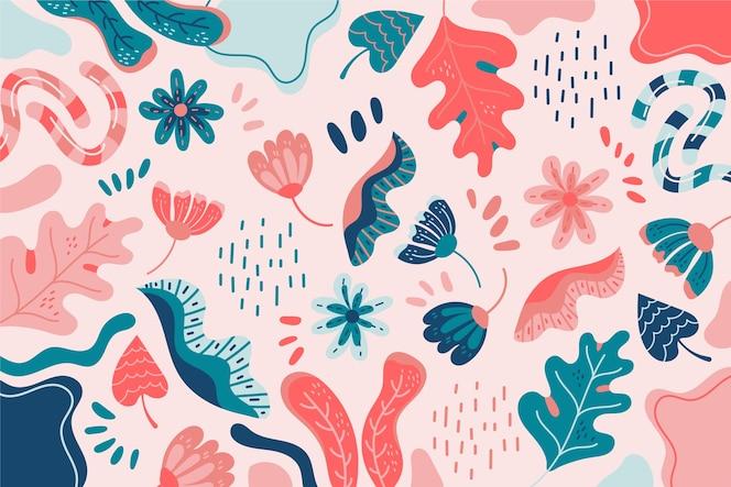 Kolorowe kształty organiczne tło