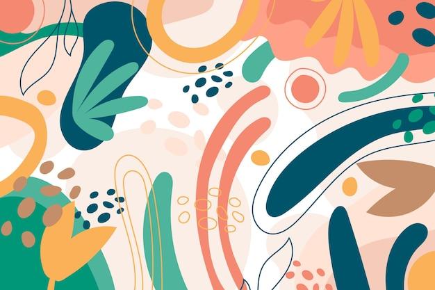 Kolorowe kształty tła