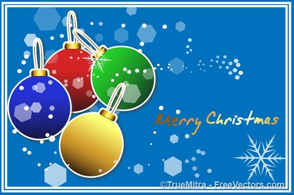 Kolorowe kulki christmas greeting card