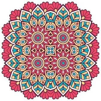 Kolorowe kwiatowy mandali