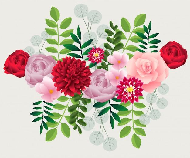 Kolorowe kwiaty vintage