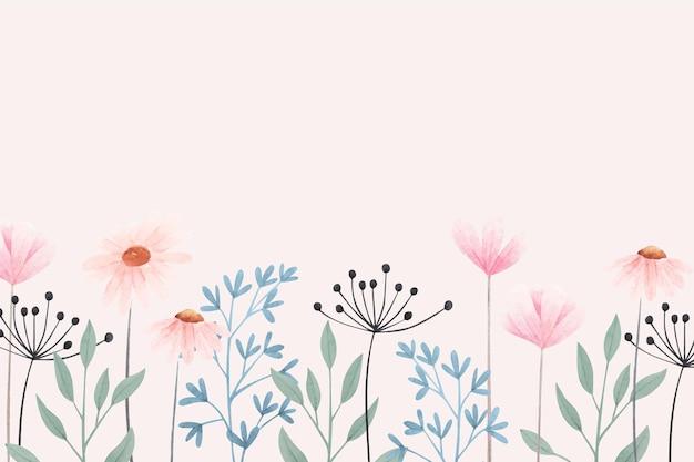 Kolorowe kwiaty w tle