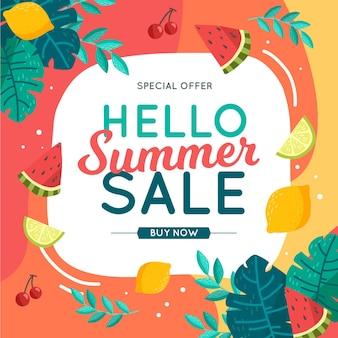 Kolorowe lato koncepcja sprzedaży
