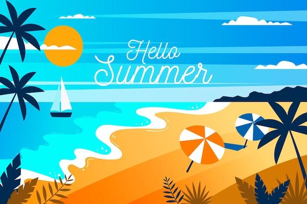 Kolorowe lato w tle
