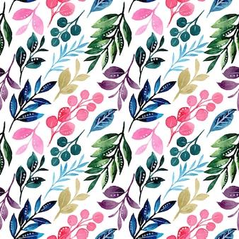 Kolorowe liście wzór z akwarelą