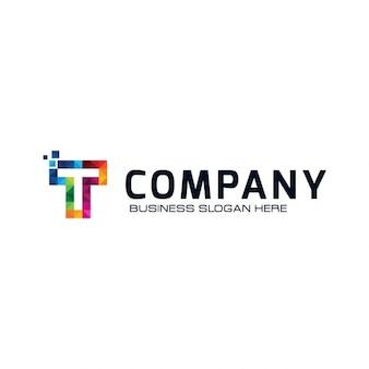 Kolorowe litera t logo