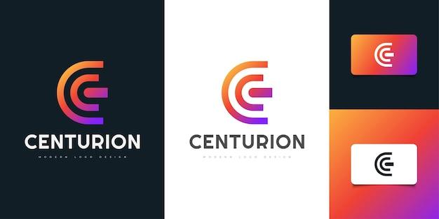 Kolorowe litery c logo design w nowoczesnej koncepcji. graficzny symbol alfabetu dla tożsamości biznesowej