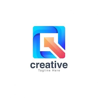 Kolorowe litery q logo szablon wektor