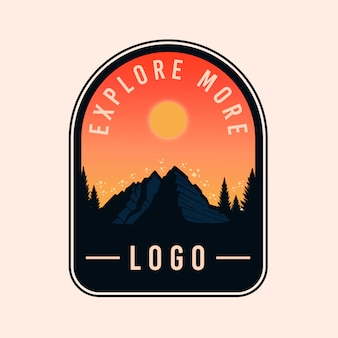 Kolorowe logo badge adventure