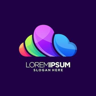 Kolorowe logo cloud