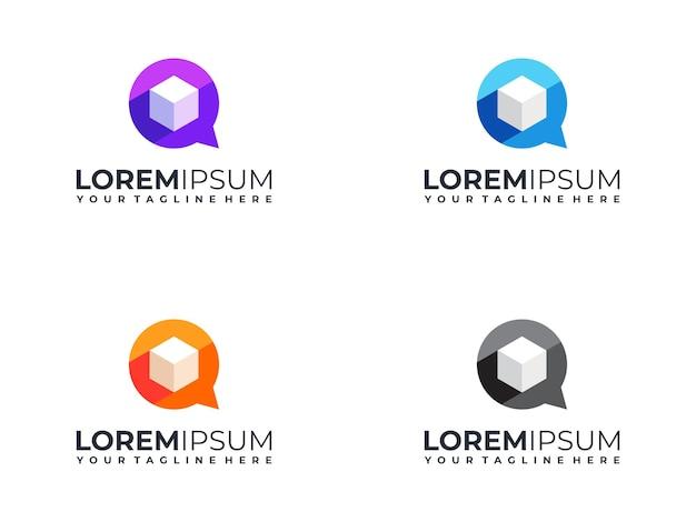 Kolorowe logo czatu