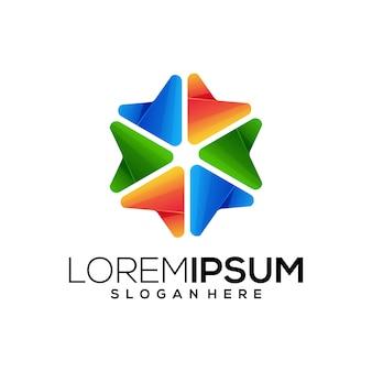 Kolorowe logo geometrick
