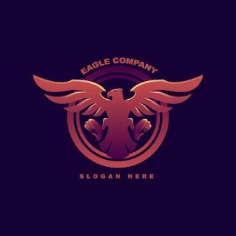 Kolorowe logo geometryczne abstrakcyjnego orła. premia