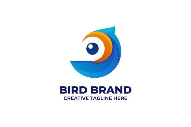 Kolorowe logo gradientu ptaka