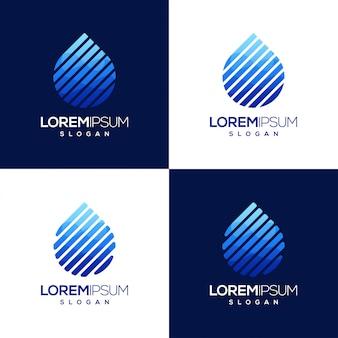 Kolorowe logo gradientu wody