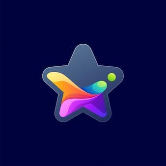 Kolorowe logo gwiazdy