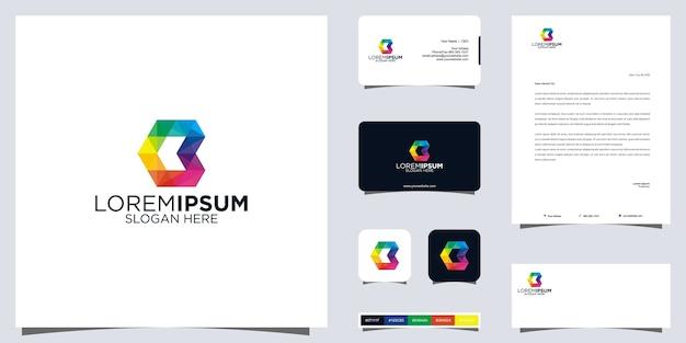 Kolorowe logo i projekt tożsamości marki