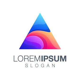 Kolorowe logo inspiracji trójkąta