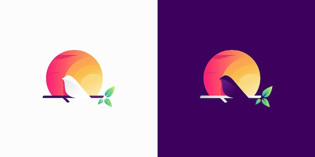 Kolorowe logo kanarka