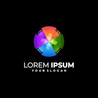 Kolorowe logo koła