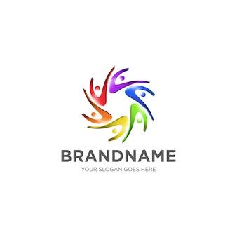 Kolorowe logo ludzi