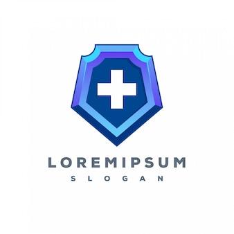 Kolorowe logo medyczne tarcza gotowe do użycia