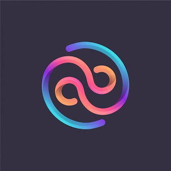 Kolorowe logo monogramu ab
