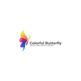 Kolorowe logo motyla