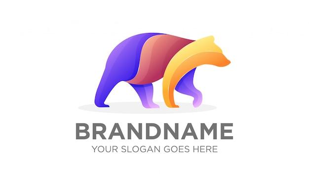 Kolorowe logo niedźwiedzia