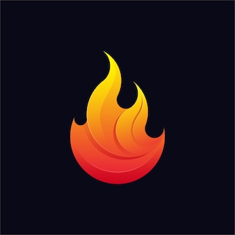 Kolorowe logo ognia