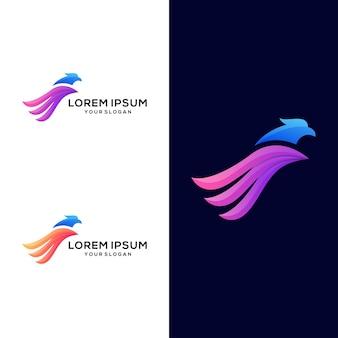 Kolorowe logo orła
