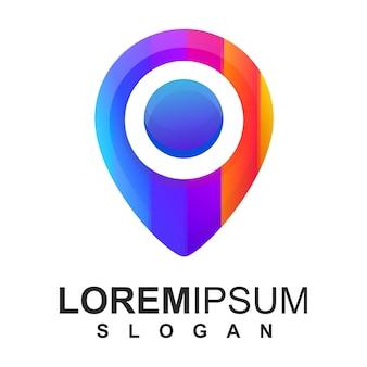 Kolorowe logo pin