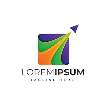 Kolorowe logo podróży premium