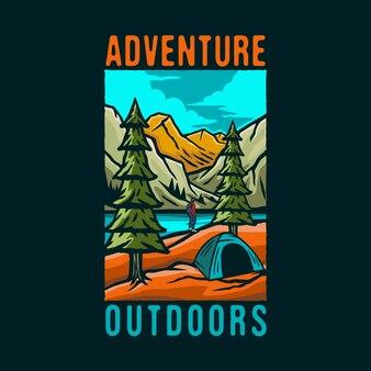 Kolorowe logo przygody