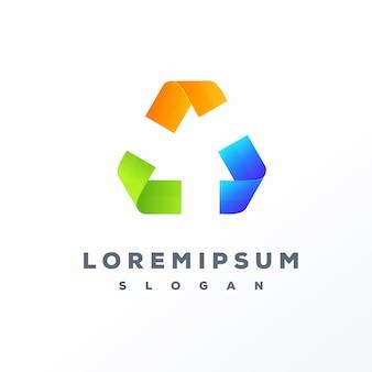 Kolorowe logo recyklingu gotowe do użycia