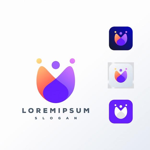Kolorowe logo społecznościowe gotowe do użycia