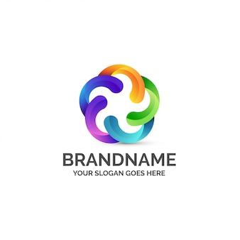 Kolorowe logo streszczenie