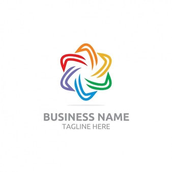 Kolorowe logo szablon projektu