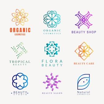 Kolorowe logo wellness spa, gradient nowoczesny wektor zestaw