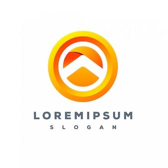 Kolorowe logo ze strzałką gotowe do użycia