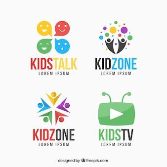 Kolorowe logo zestaw dzieciak