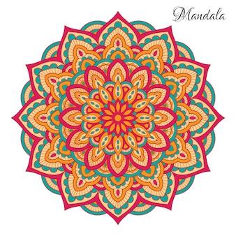 Kolorowe mandali z kwiatowymi kształtami